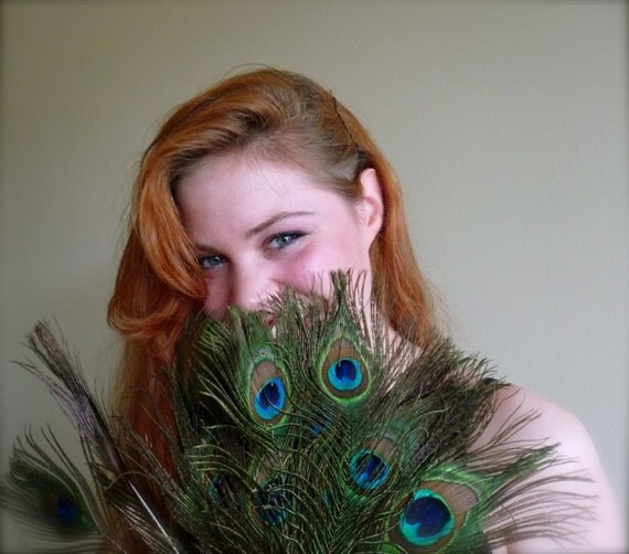 PEACOCK EYES FEATHERS Exquisite Quality, 6 plumes  / 525