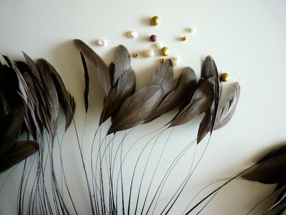 STRIPPED COQUE TAIL / Ashy Dark Brown /  1135