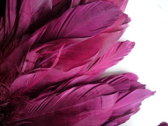 VOGUE GOOSE FRINGE, Exclusive  Quality, Raspberry, Sangria  Red  / 779