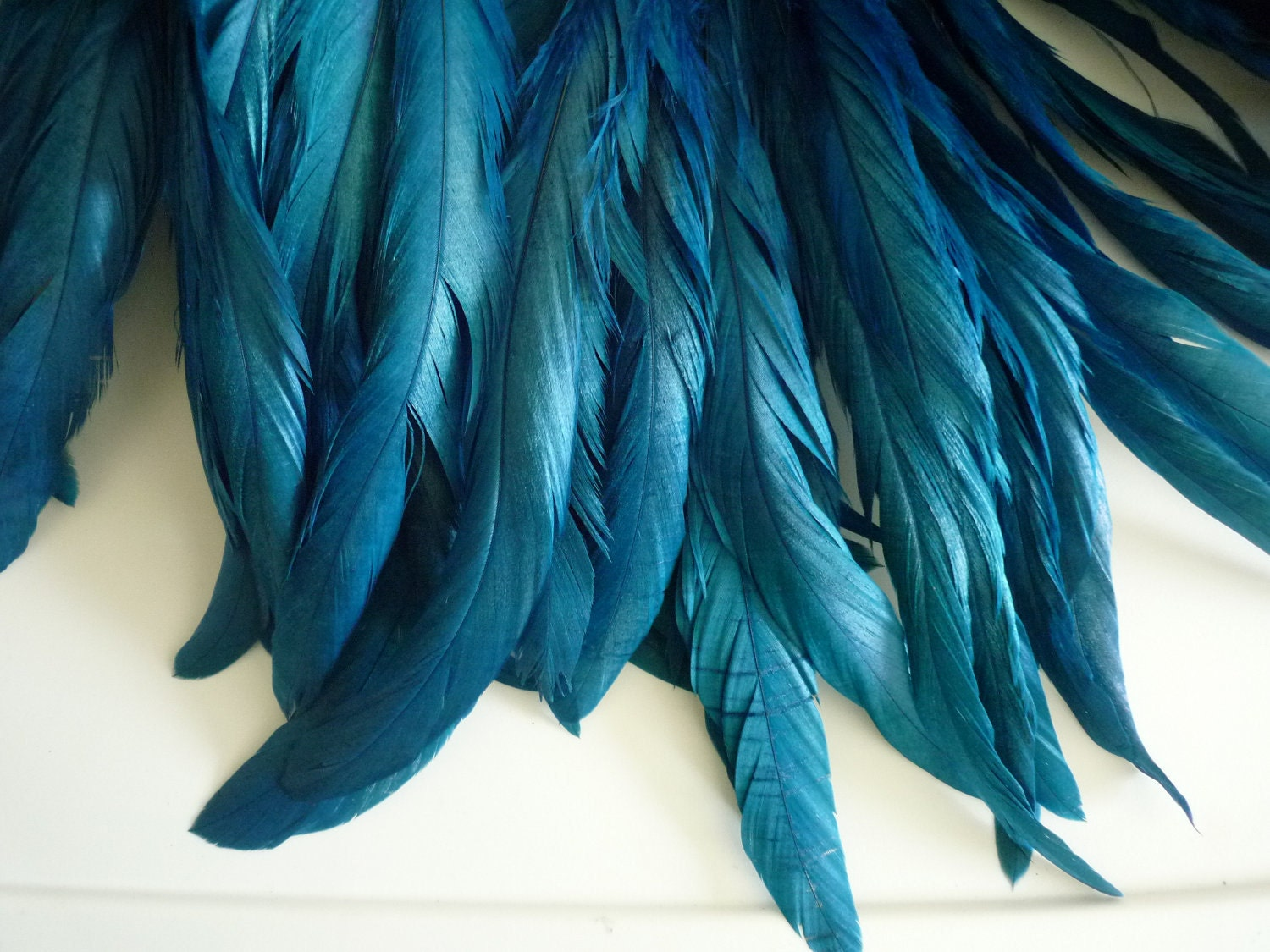 coque tail feathers loose dark peacock blue 191. Black Bedroom Furniture Sets. Home Design Ideas
