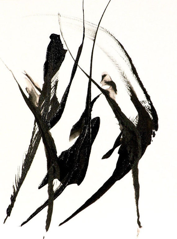 Black and White Fine Art Print The Dance Ballet Minimalist Line Abstract Dancing Figurative