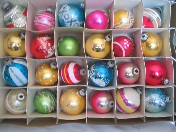 Christmas Ball Ornaments Two Dozen