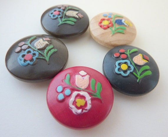 Vintage Wooden Buttons 24