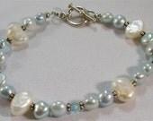 Baby Blue Pearl Bracelet