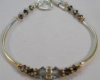 """Smoke Crystal Bracelet - 7"""""""