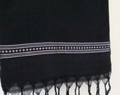 Black and Silver Scarf Hand woven