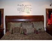 Wall Decal Across the years.....Wall Decal/Wall Words/Wall Tattoo