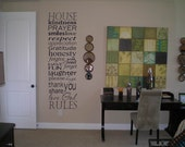 Family House Rules Vinyl Wall Decal Sticker Art Subway Art Typography