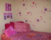 Polka Dot City LARGE wall decal kit- 51 decals