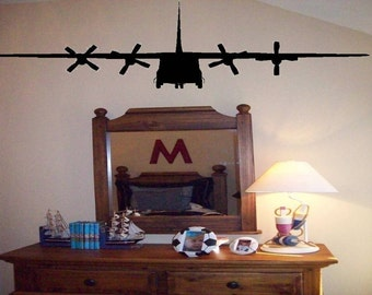 Military Plane Wall Decal/Wall Sticker