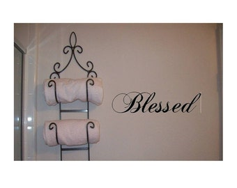 Wall Decal Blessed Wall Transfer Wall Tattoo
