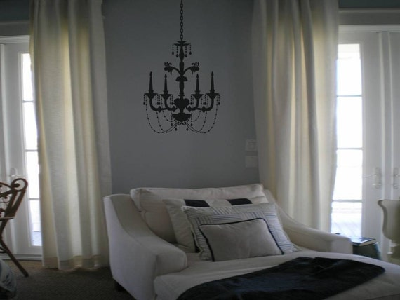 Wall Decal Quote Wall Decal Elegant Chandelier Wall Decal Wall