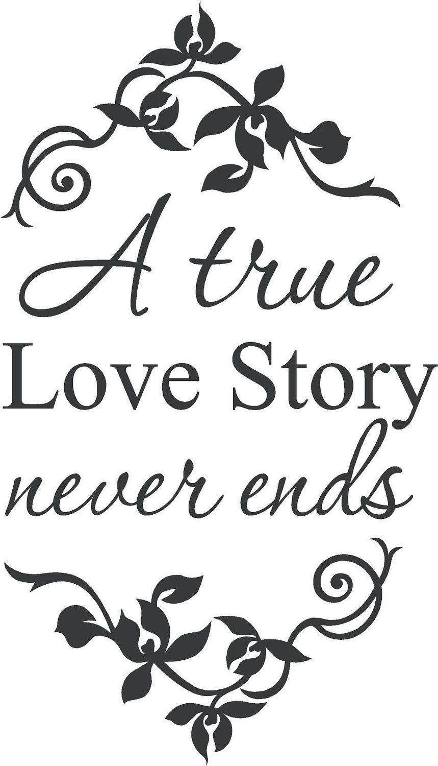 Love Story Magazine 1921 Pulp Comic Books 1939 Or Before: A True Love Story Never Ends Wall Decal Wall Words Wall Tattoo