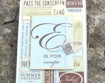 SALE on BEACH or TRAVEL scrapbook tin for a mini album, notes, journaling, photos or memorabilia