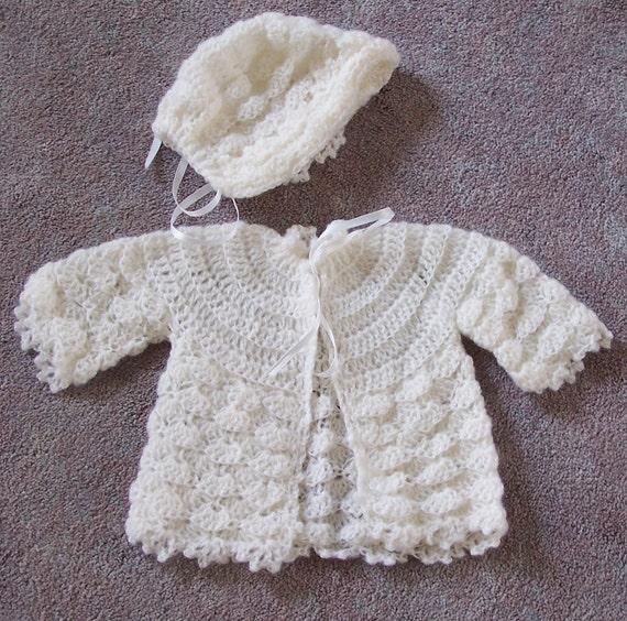 Newborn Sweater/Bonnet set