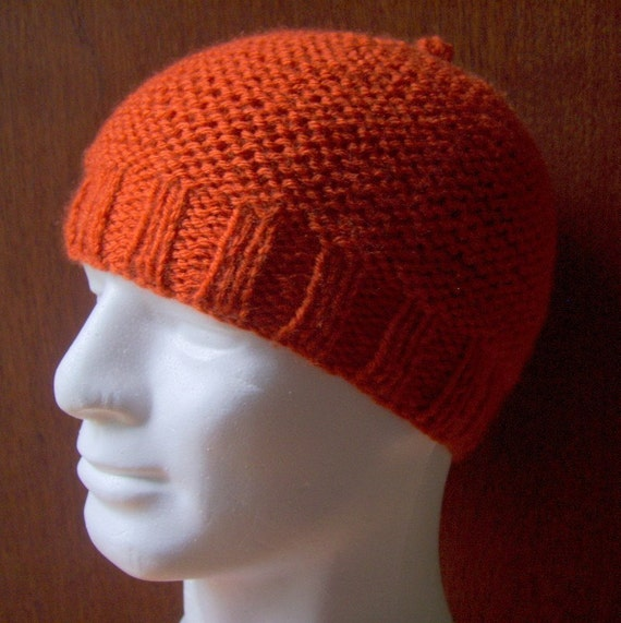 KNITTING PATTERN/ BELLE / Womans Knit Beanie Pattern/Garter stitch/AranWorste...