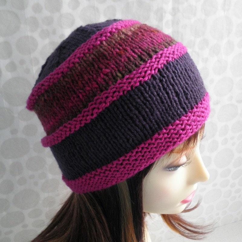 Knitting Pattern For T Bag Hat : KNITTING PATTERN/VERMONT Womans Hat Pattern Noro by artesana