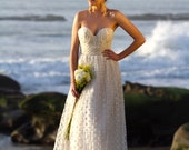 Clementine -  dotted net sweetheart wedding gown