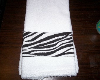 WILD ZEBRA STRIPES Guest Hand Towel