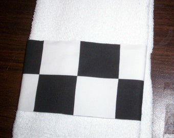 NASCAR CHECKERED FLAG Guest Hand Towel
