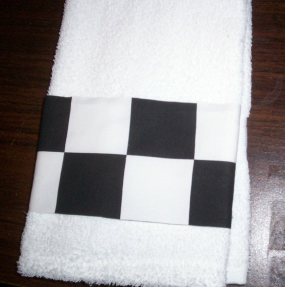Checkered Flag Rug: NASCAR CHECKERED FLAG Guest Hand Towel By Jeffandstephs On