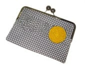 """Unique and Stylish eReader / Kindle / Sony / Nook Clutch Case """"Charcoal Dots"""""""