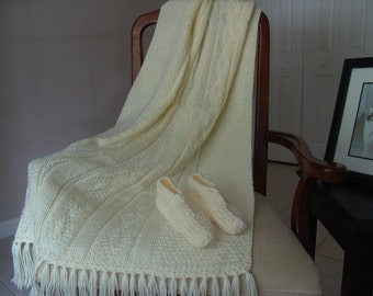 Knitted Afghan - A Cup of Butter