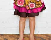 PATTERN and TUTORIAL - Layered Cake Skirt - Girls 2t 3t 4t 5t 6 7 8