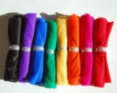 Extra Large Play Silk Set of 6 - made from Chiffon - YOU PICK COLORS- Imagination Gift