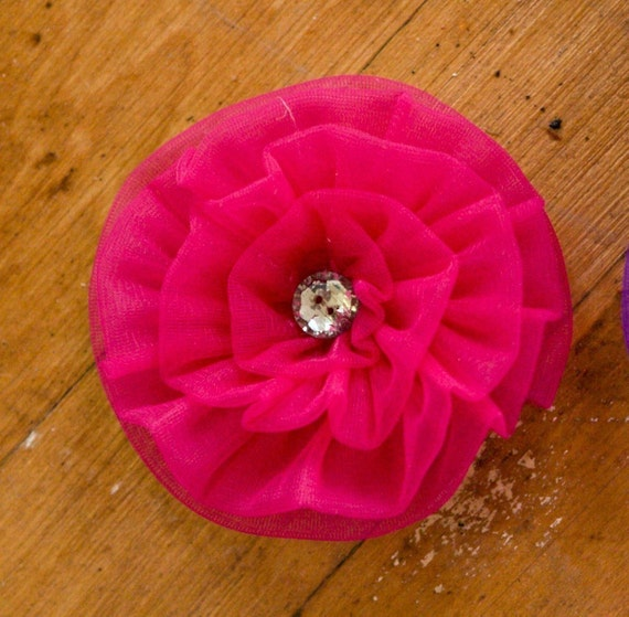 Rosette TUTORIAL - Fabric flower Brooch or Hair Pretty