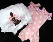 Ready to ship Adorable Easter Leg Warmers with Bows and matching monogrammed bloomers