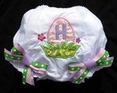 Easter Egg Initial - Monogrammed Bloomers with bows