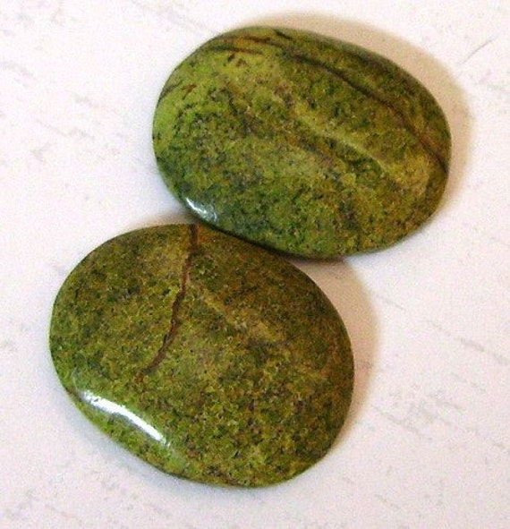 Serpentine Cabochons Set of 2 Ovals