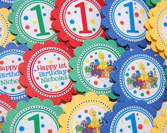 12 Sesame Street CupcakeToppers