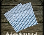 SALE - Upcycled COTTON reusable baggies - set of 4, no plastic or velcro