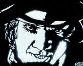 Clockwork Orange (Malcolm McDowell/Alex) Stencil Graffiti Art