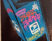 5X7 Mailbox Stencil Graffiti Art