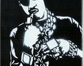 Slick Rick Stencil Graffiti Art