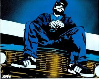 8.5x11 Eazy-E Stencil Art Print