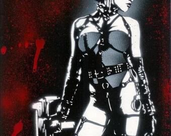 8.5x11 Gail (Rosario Dawson) from Sin City Stencil Art Print