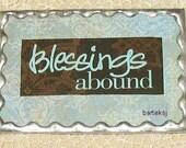 Blessings Abound Soldered Art Magnet