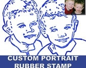Custom Portrait Stamp Hand Carved