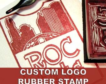Custom Logo Stamp Hand Carved