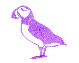 Puffin Stamp - Hand Carved Rubber Stamp