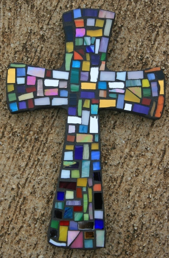 Small Mosaic cross - little pieces