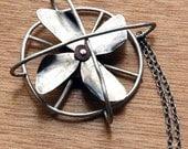 Silver Fan Pendant