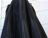 Black Taffeta and Velvet Bows 1950s Skirt NOW on SALE