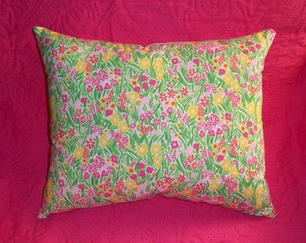New 14 Square Pillow Made With Lilly By Mypinkandgreengarden