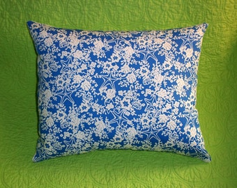 New Pillow MW Lilly Pulitzer Blue Seashore fabric