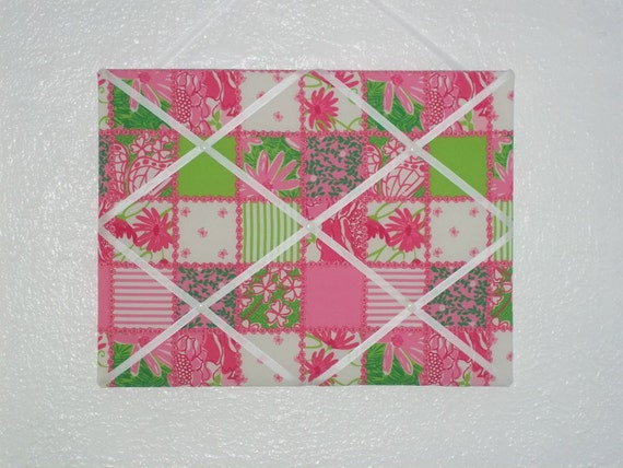 New Memo board mw Lilly Pulitzer Multi Patchtastic fabric
